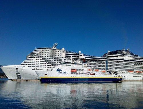 Le MSC Meraviglia en escale à Toulon