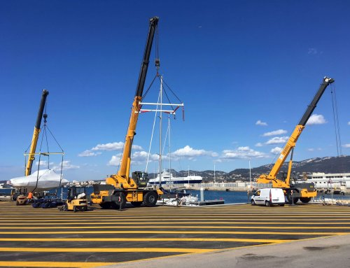 Un nouvel ouvrage de mise à l'eau pour la zone portuaire Grimaud